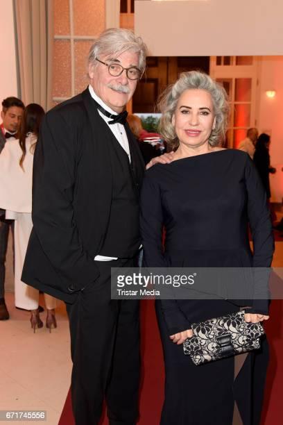 Peter Simonischek and his wife Brigitte Karner during the ROMY award at Hofburg Vienna on April 22 2017 in Vienna Austria
