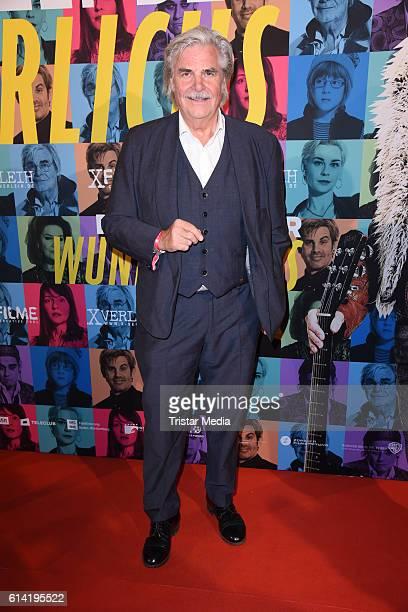 Peter Simonischek attends the Berlin premiere of the film 'Die Welt der Wunderlichs' at Kant Kino on October 12, 2016 in Berlin, Germany.