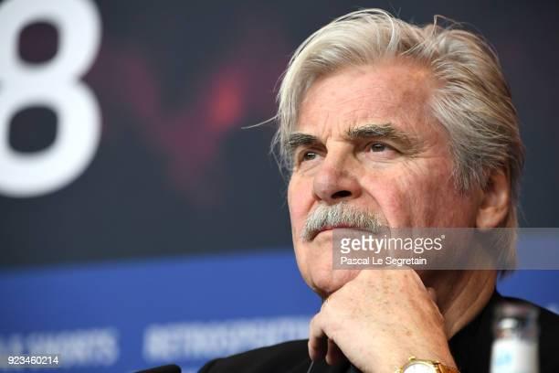 Peter Simonischek attends the 'The Interpreter' press conference during the 68th Berlinale International Film Festival Berlin at Grand Hyatt Hotel on...