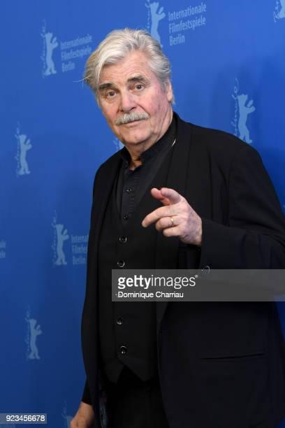 Peter Simonischek poses at the 'The Interpreter' photo call during the 68th Berlinale International Film Festival Berlin at Grand Hyatt Hotel on...