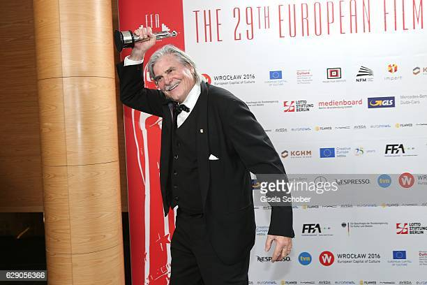 Peter Simonischek with award during the 29th European Film Awards at National Forum of Music on December 10, 2016 in Wroclaw, Poland.