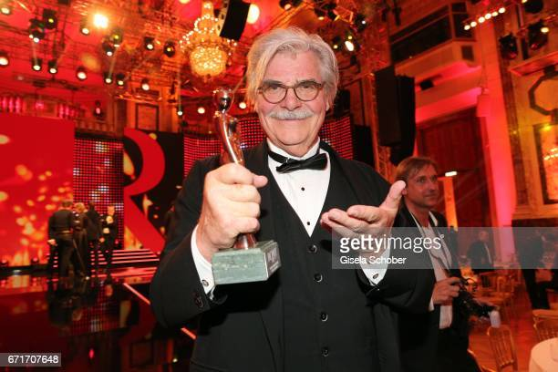Peter Simonischek with award during the ROMY award at Hofburg Vienna on April 22 2017 in Vienna Austria