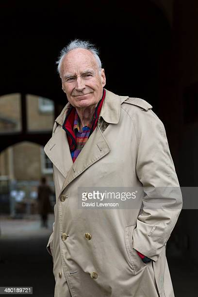 Peter Snow journalist and television news presenter poses for a portrait on Day 2 of the FT Weekend Oxford Literary Festival on March 23 2014 in...