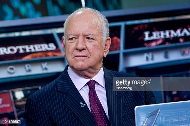 Peter Solomon founder of investment bank Peter J Solomon Co and a former vice chairman of Lehman Brothers Holdings Inc listens during an interview in...