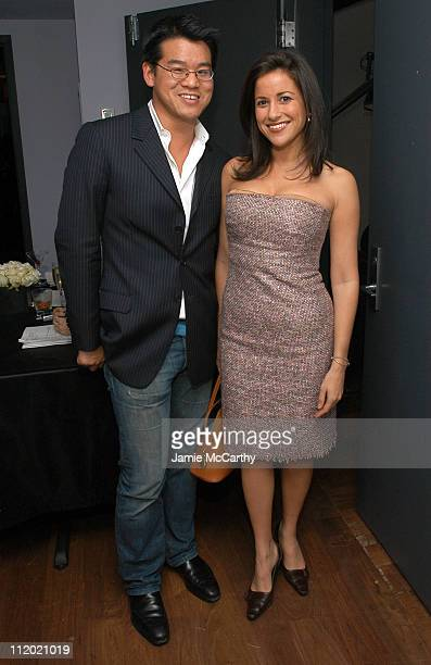 Peter Som and Gigi Stone during YSL and Jude Law Host a Grand Classics Evening in Honor of Cinema and Alfie at Soho House in New York City New York...