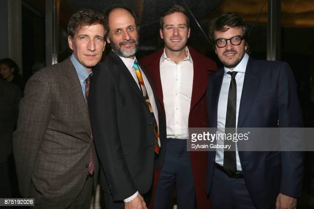 Peter Spears Luca Guadagnino Armie Hammer and Sufjan Stevens attend Calvin Klein and The Cinema Society host the after party for Sony Pictures...