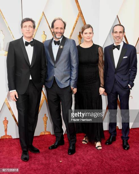 Peter Spears Luca Guadagnino Emilie Georges and Marco Morabito attend the 90th Annual Academy Awards at Hollywood Highland Center on March 4 2018 in...