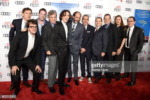 Peter Spears Rodrigo Teixeira Tom Dolby CoPresident of Sony Pictures Classics Tom Bernard Timothee Chalamet Luca Guadagnino Marco Morabito Michael...