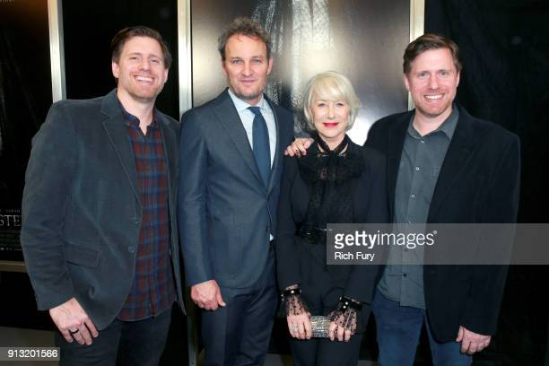 Peter Spierig Helen Mirren Jason Clarke and Michael Spierig attend the premiere of CBS Films' 'Winchester' at Cinemark Playa Vista on February 1 2018...