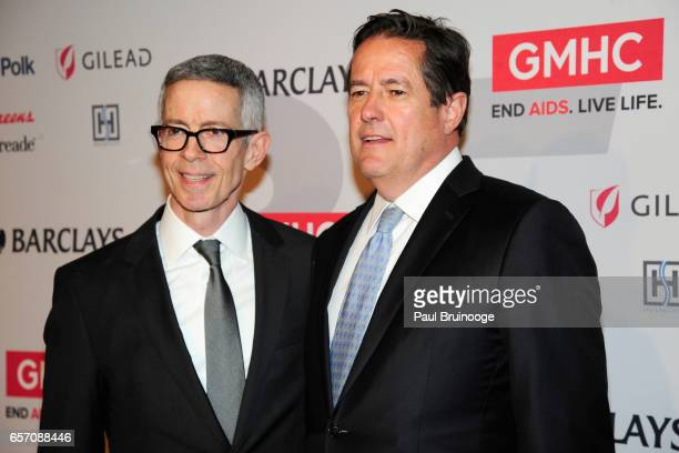 Peter Staley and Jes Staley attend the GMHC 35th Anniversary Spring Gala at Highline Stages on March 23 2017 in New York City