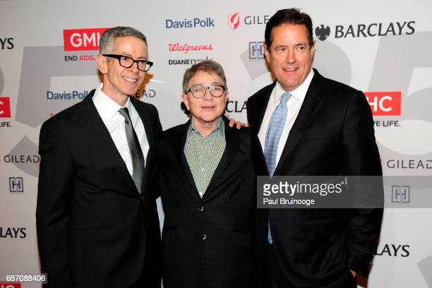 Peter Staley Joy Tomchin and Jes Staley attend the GMHC 35th Anniversary Spring Gala at Highline Stages on March 23 2017 in New York City