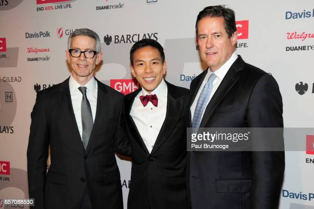 Peter Staley Kelsey Louie and Jes Staley attend the GMHC 35th Anniversary Spring Gala at Highline Stages on March 23 2017 in New York City