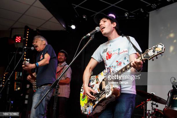 Peter Stampfel and Jeffrey Lewis of The Jeffrey Lewis and Peter Stampfel Band perform on stage at Brudenell Social Club on May 31, 2013 in Leeds,...