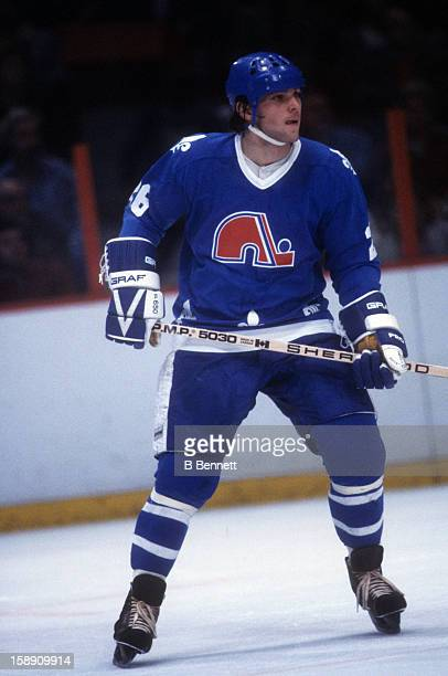 Peter Stastny of the Quebec Nordiques skates on the ice during an NHL game against the Philadelphia Flyers on November 9 1980 at the Spectrum in...