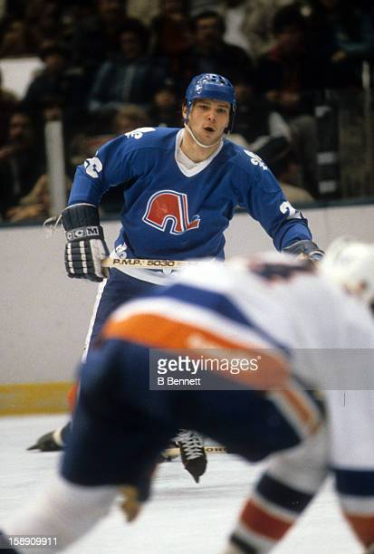 Peter Stastny of the Quebec Nordiques skates on the ice during the game against the New York Islanders on December 20 1980 at the Nassau Coliseum in...