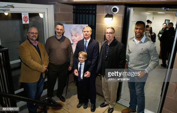 Peter Stefanoupoulos, Karl Siciliano ,,Matthew Saks, Brody Saks Steve Herrick and Glenwyn Dickerson attend The Bea Arthur Residence Building...