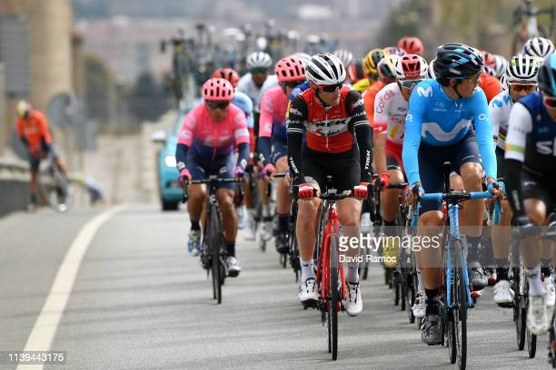 Peter Stetina of The United States and Team Trek Segafredo / Marc Soler of Spain and Movistar Team / Alejandro Valverde Belmonte of Spain and...