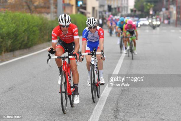 Peter Stetina of The United States and Team TrekSegafredo / David Gaudu of France and Team Groupama FDJ / during the 99th Milano Torino 2018 a 200km...