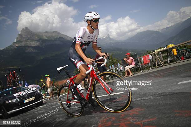 Peter Stetina of the United States and TrekSegafredo during stage eighteen of the 2016 Le Tour de France from Sallanches to Megeve on July 21 2016 in...