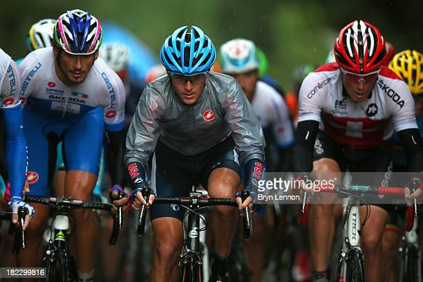 Peter Stetina of the United States in action during the Elite Men's Road Race a 272km race from Lucca to Florence on September 29 2013 in Florence...