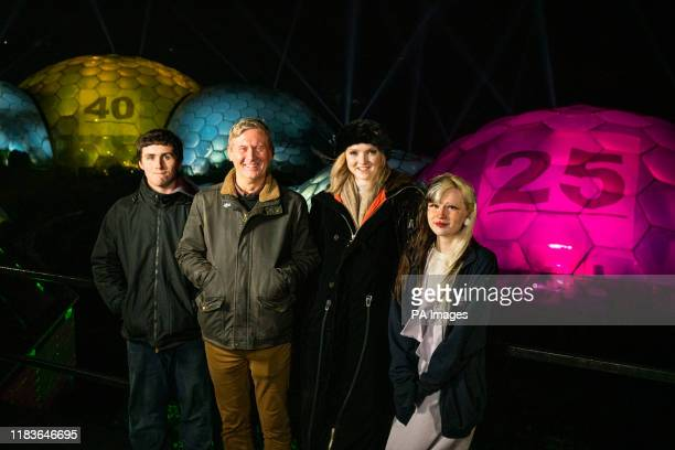 Peter Stewart Eden Project Director of Outreach and Development Activist and actress Lily Cole with Jordan Endean and Brogan Cawley from the Game...