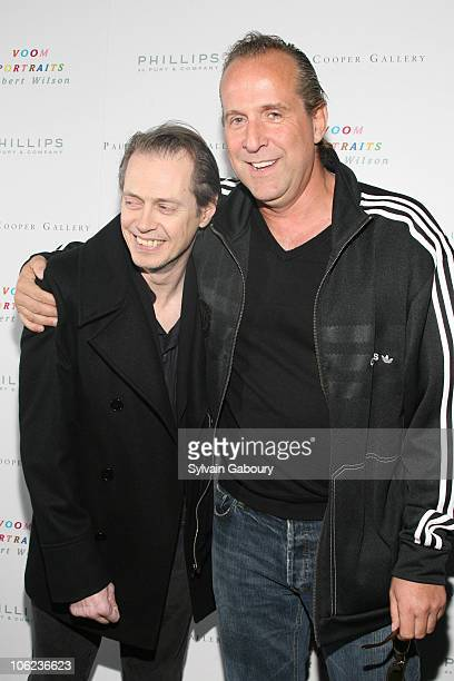 Peter Stormare and Steve Buscemi during Voom Portraits By Robert Wilson Arrivals at Phillips de Pury Company at 450 West 15th Street in New York City...