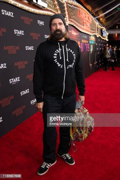 Peter Stormare arrives at the premiere of STARZ's 'American Gods' Season 2 at Ace Hotel on March 05 2019 in Los Angeles California