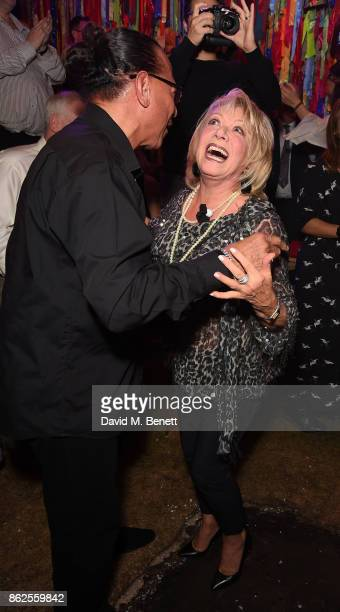 Peter Straker and Elaine Paige attend the 50th anniversary production of 'Hair The Musical' at The Vaults on October 17 2017 in London England