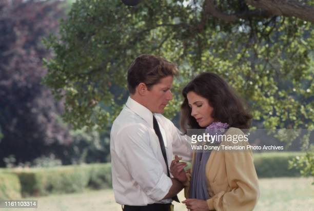 Peter Strauss as Joseph Kennedy Jr, Barbara Parkins appearing in the ABC tv movie 'Young Joe, The Forgotten Kennedy'.