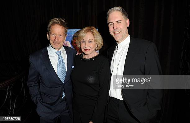 Peter Strauss Michael Learned and Ian Lithgow attend The Outgoing Tide Off Broadway Opening Night After Party at Lavo on November 20 2012 in New York...