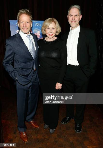 Peter Strauss Michael Learned and Ian Lithgow attend the The Outgoing Tide Off Broadway opening night after party at Lavo on November 20 2012 in New...