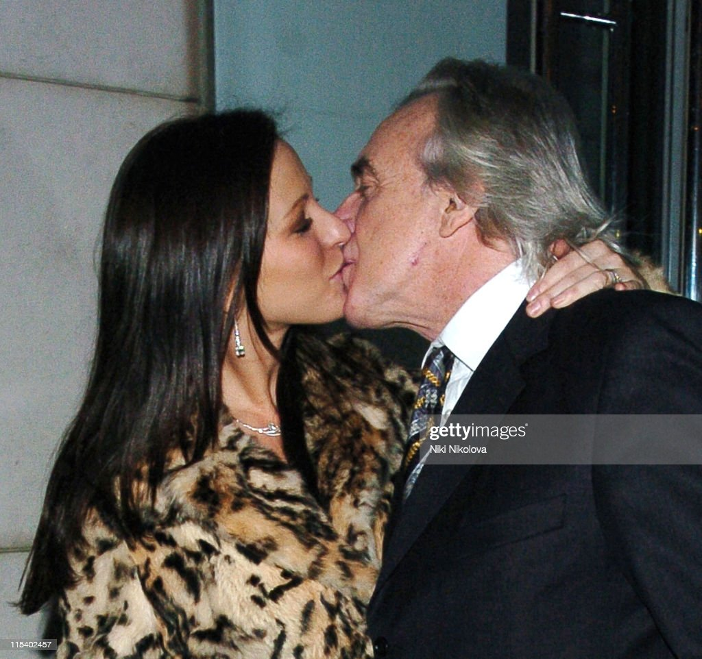 Peter Stringfellow and Bella Wright during Celebrity Sightings at Nobu in London - January 31, 2006 at Nobu in London, Great Britain.
