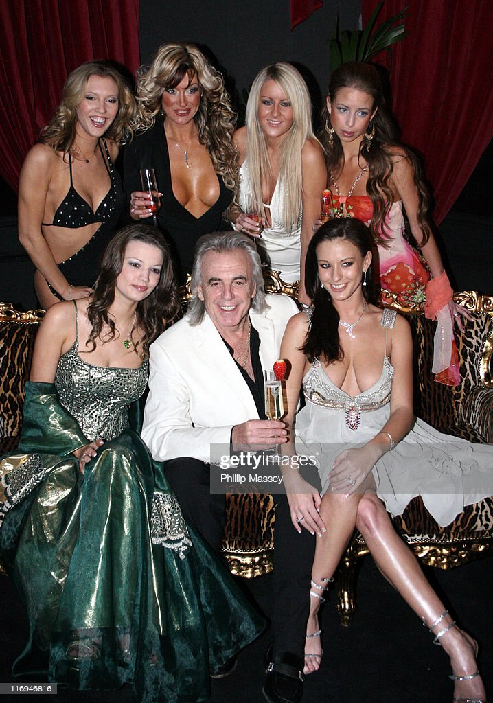 Peter Stringfellow and dancers during Stringfellows Launch Party - Dublin - Arrivals at Parnell Street in Dublin, Ireland.