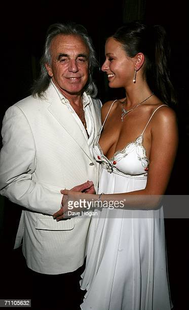 Peter Stringfellow and his girlfriend Bella Wright attend the launch of the latest Stringfellow's lap dancing club 'Stringfellows Soho' in Soho's...