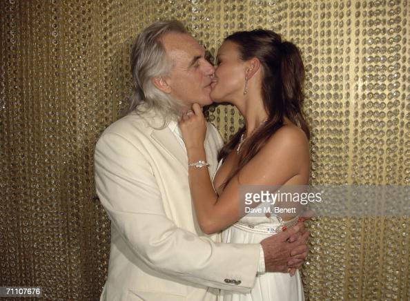 Peter Stringfellow & his girlfriend Bella Wright attend the opening party for Stringfellows Soho
