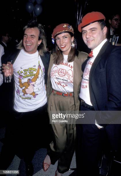 Peter Stringfellow Lisa Sliwa and Curtis Sliwa during 1st Anniversary of Stringfellow's Nightclub at Stringfellow's Nightclub in New York City New...