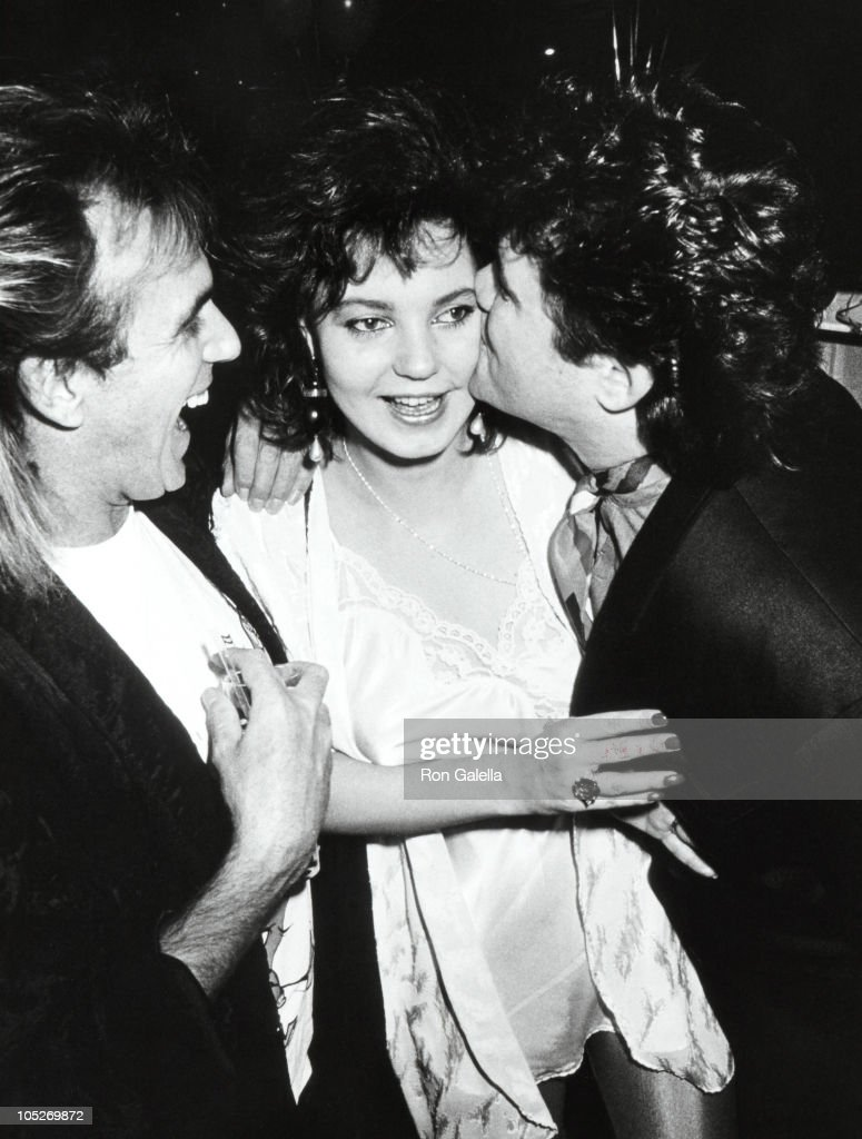 Peter Stringfellow, Maria Burton and Steve Carson during 1st Anniversary of Stringfellow's Nightclub at Stringfellow's Nightclub in New York City, New York, United States.
