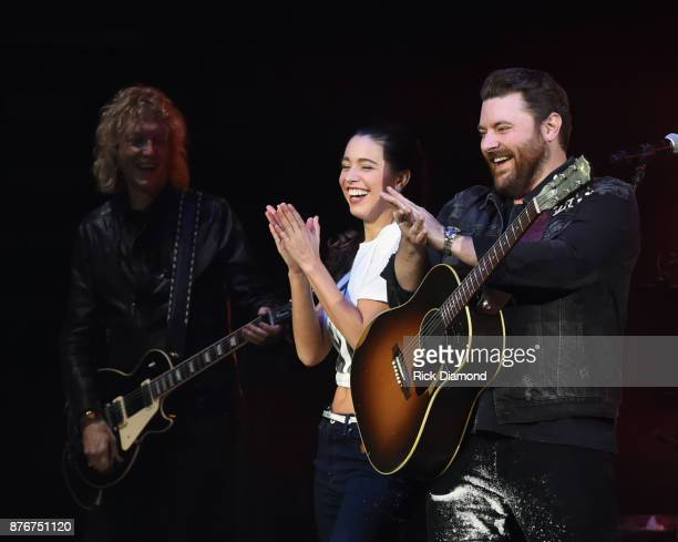 Peter Stroud Alissa Czisny and Chris Young during the second annual 'An Evening Of Scott Hamilton Friends' hosted by Scott Hamilton to benefit The...