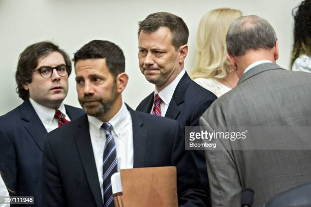 Peter Strzok an agent at the Federal Bureau of Investigation center arrives to a joint House Judiciary Oversight and Government Reform Committees...