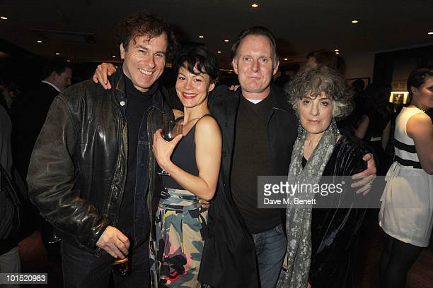 Peter Sullivan Helen McCory Robert Glenister and Eleanor Bron attend the press night for 'The Late Middle Classes' at Cafe Des Amis on June 1 2010 in...