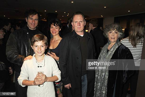 Peter Sullivan Laurence Belcher Helen McCory Robert Glenister and Eleanor Bron attend the press night for 'The Late Middle Classes' at Cafe Des Amis...