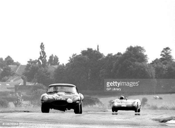 Peter Sutcliffe driving a Jaguar EType at Tourist Trophy Goodwood 15th