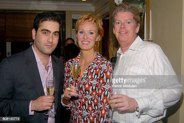 Peter Tarulli Carrie Furlong and Kenneth Teaton attend MICHAEL S SMITH AGRARIA COLLECTION LAUNCH at Lowell Hotel on April 18 2007