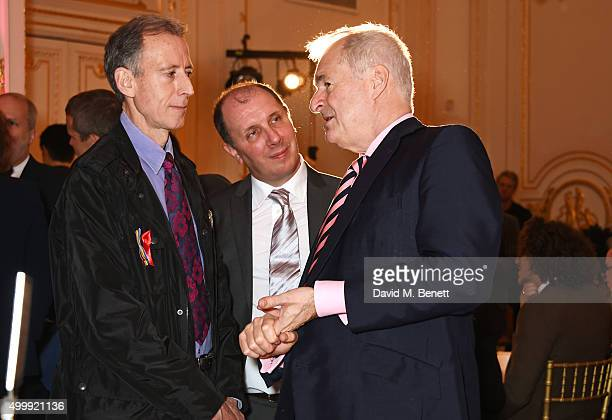 Peter Tatchell, Jeremy N. Hooke and Paul Gambaccini attend the Winq Magazine Men of the Year lunch to benefit the Elton John Aids Foundation at The...