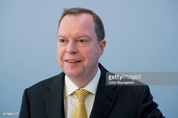 Peter Terium Chief Executive Officer of the RWE AG during the Annual Press Conference in Essen on March 04 2014 in Essen Germany