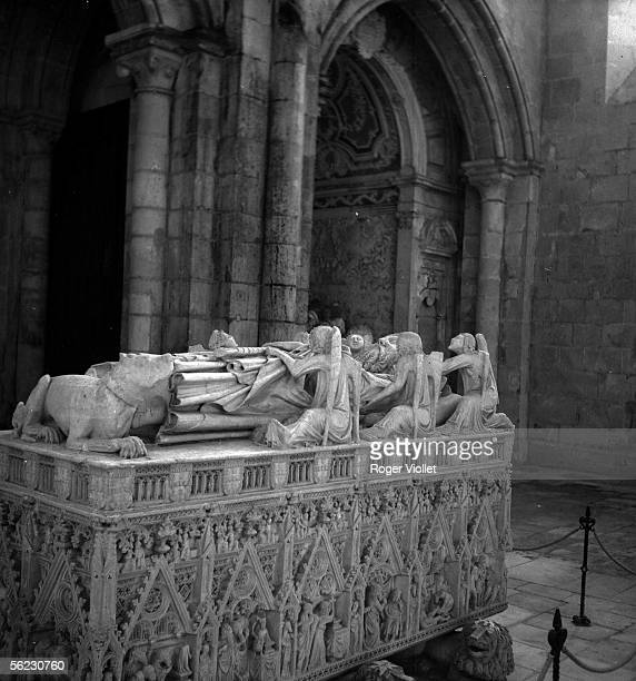 Peter the First's grave king of Portugal Abbey of Alcobaca february 1968 LAPAD5262