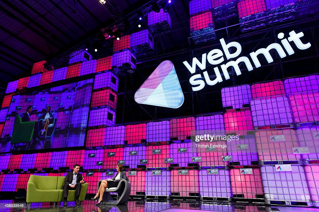 Peter Thiel, Founders Fund in conversation with Caroline Daniel from the Financial Times on the Web Summit Centre Stage at the 2014 Web Summit on November 6, 2014 in Dublin, Ireland.