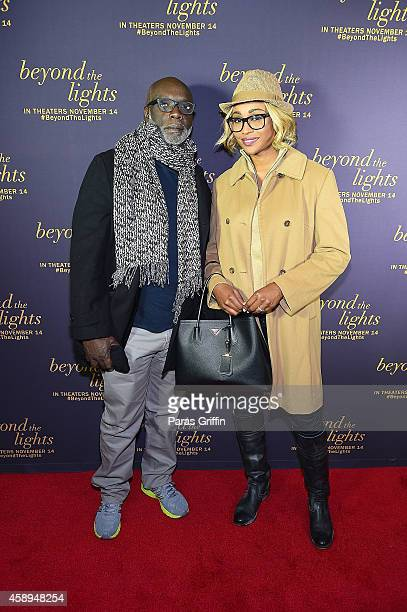 Peter Thomas and Cynitha Bailey attend Beyond The Lights Advanced Screening at AMC Phipps Plaza on November 13 2014 in Atlanta Georgia