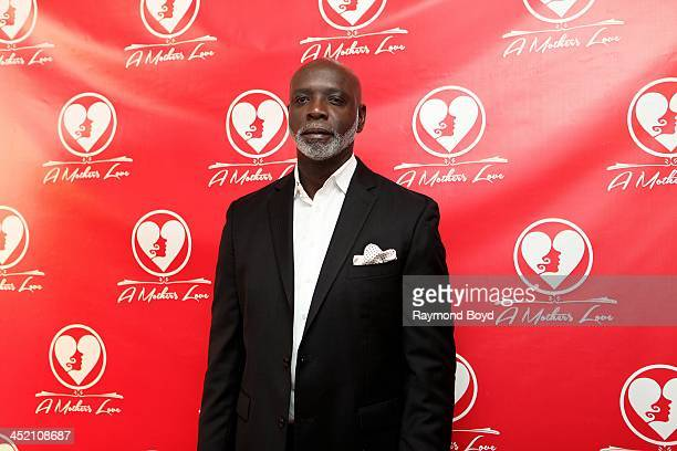 Peter Thomas from Bravo's 'Real Housewives Of Atlanta' poses for red carpet photos for 'A Mother's Love' stage play at the Rialto Center For The Arts...