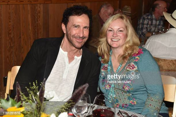 Peter Thomas Roth and Patricia Hearst Shaw attend Hearst Castle Preservation Foundation - Patron Cowboy Cookout at Hearst Ranch on September 29, 2018...